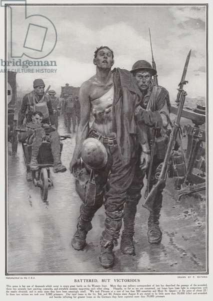 Battered, but victorious (litho)