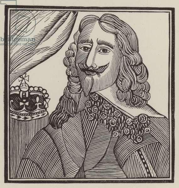 King Charles I, martyr (engraving)