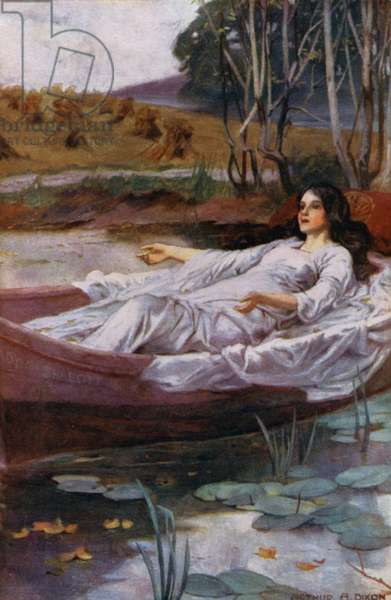 Tennyson Poem: The Lady of Shalott (colour litho)