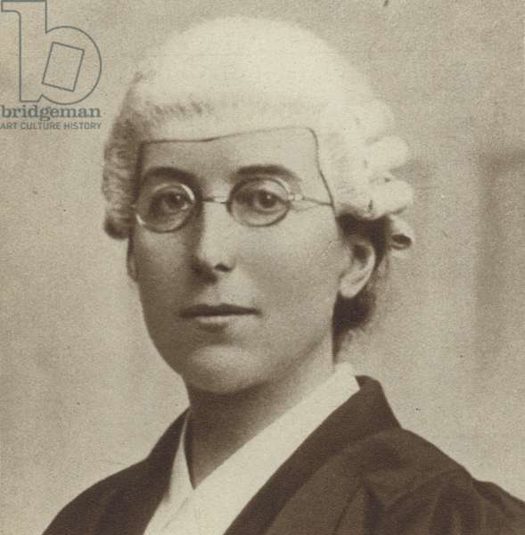 Ivy Williams, the first British woman barrister and lecturer in law at Oxford University, 1922 (b/w photo)