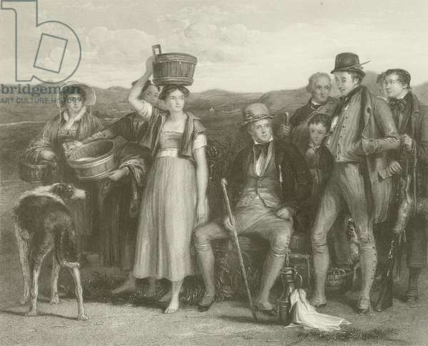 Sir Walter Scott and his Family (engraving)