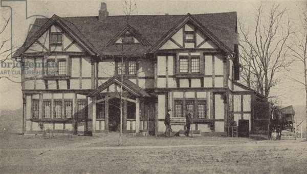 Woodrow Wilson's home, Princeton, New Jersey (b/w photo)