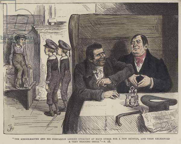Illustration for Nicholas Nickleby (coloured engraving)