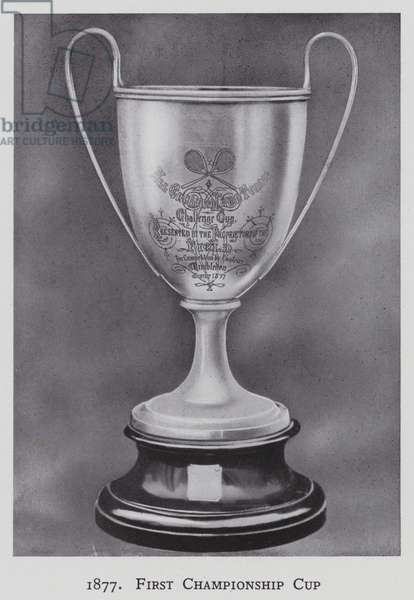 1877, First Championship Cup (b/w photo)