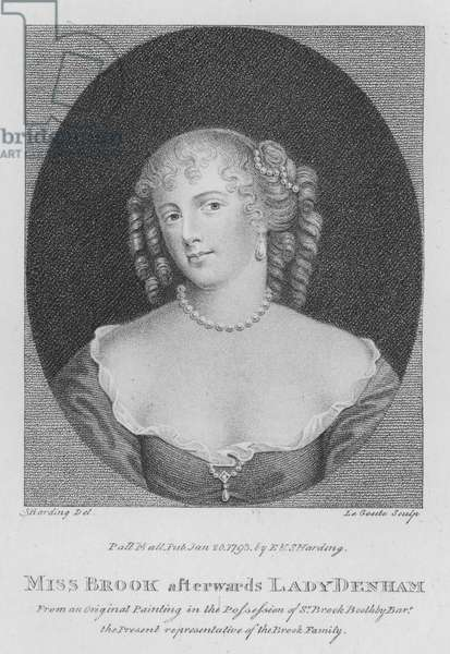 Miss Brook afterwards Lady Denham (engraving)