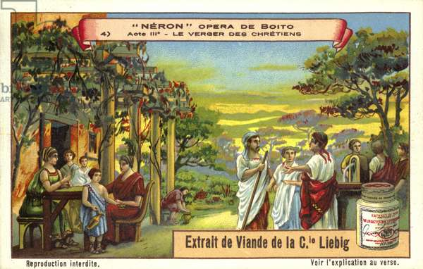 The verger of the Christians, scene from Italian composer Arrigo Boito's opera Nerone (chromolitho)