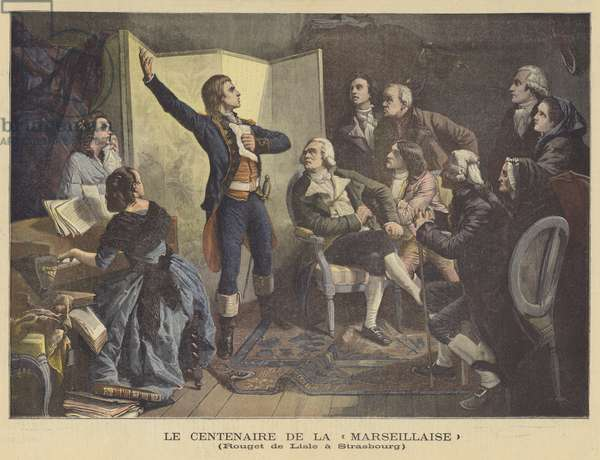 The centenary of la Marseillaise (colour litho)