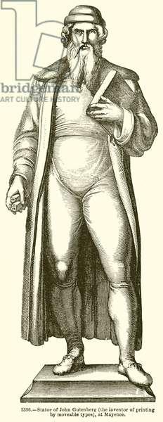 Statue of John Gutenberg (engraving)