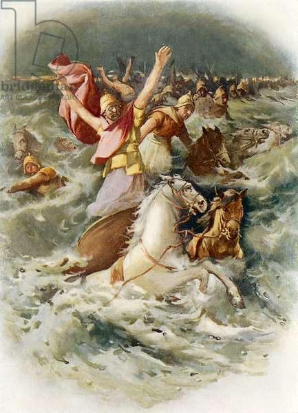 The Egyptians perish in the Red Sea