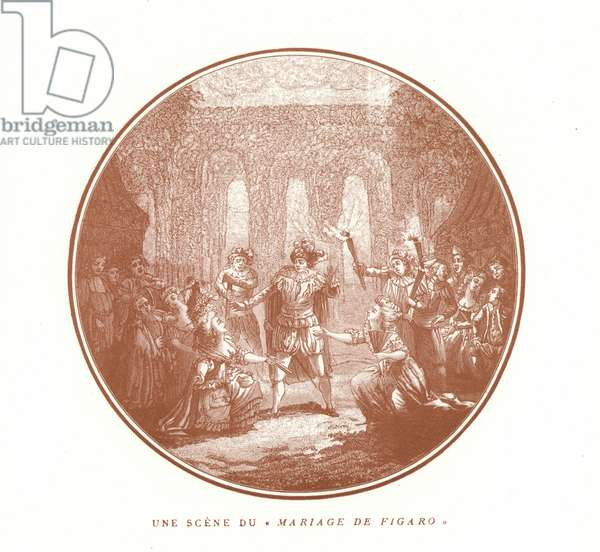 Scene from The Marriage of Figaro, by Wolfgang Amadeus Mozart (litho)