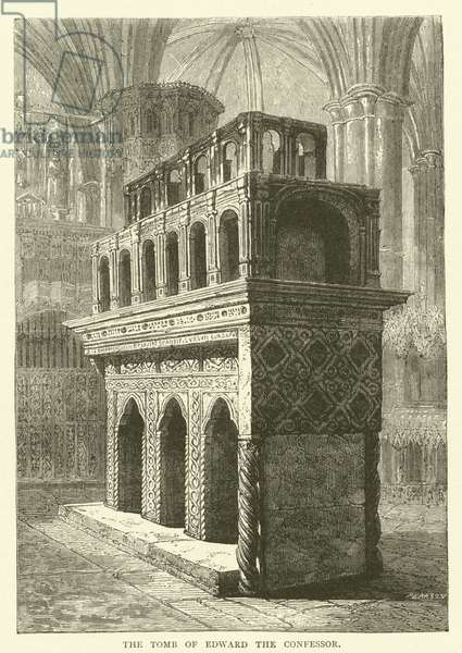 The Tomb of Edward the Confessor (engraving)