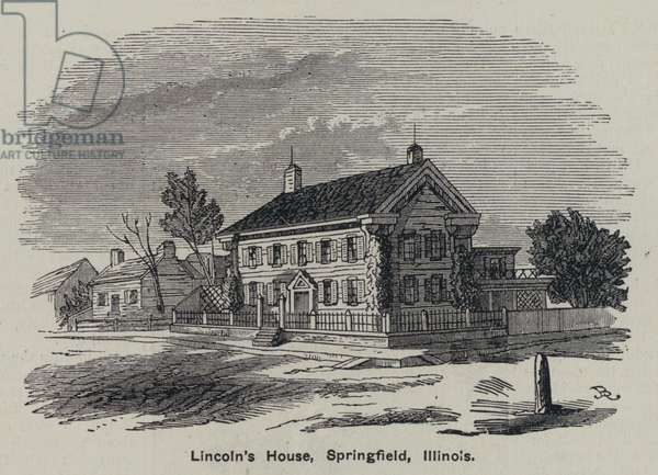 Lincoln's house, Springfield, Illinois (engraving)