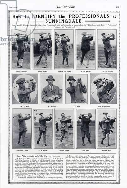 Professional golfers (b/w photo)