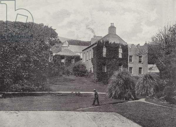 Derrynane Abbey (b/w photo)