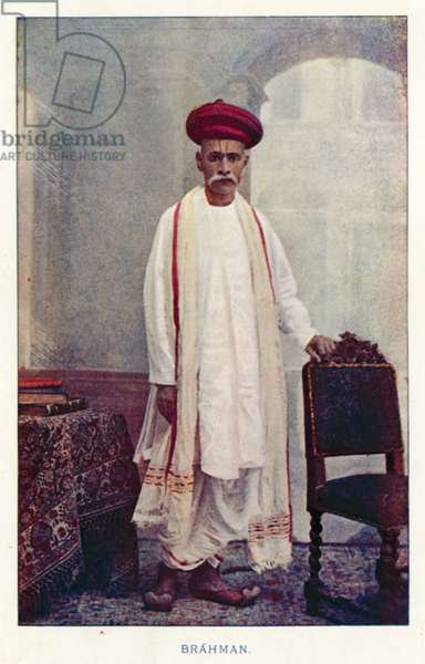 Indian Natives: Brahman (coloured photo)