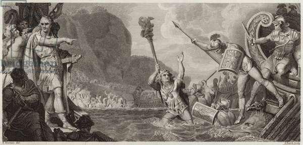 The Landing of Julius Caesar (engraving)
