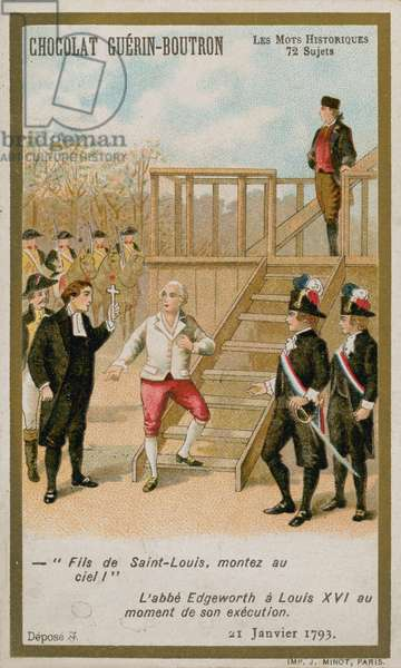 The execution of King Louis XVI of France, 21 January 1793. (chromolitho)