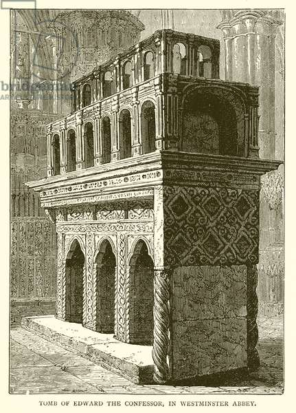 Tomb of Edward the Confessor, in Westminster Abbey (engraving)