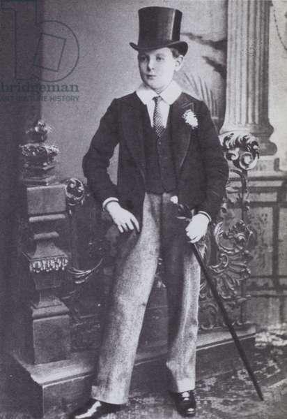 Winston Churchill, as a schoolboy (b/w photo)