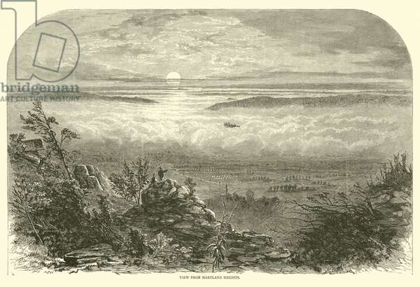 View from Maryland Heights, September 1862 (engraving)