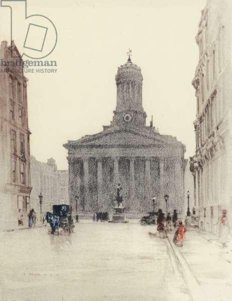 Glasgow: The Royal Exchange (colour litho)