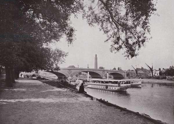 King Edward VII Bridge, Kew (b/w photo)