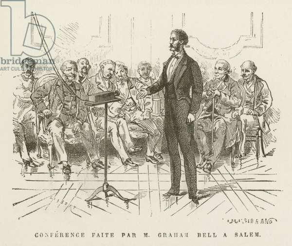 Conference Faite par M Graham Bell a Salem (engraving)