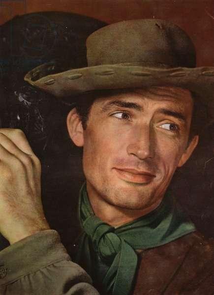 Portraits of film stars: Gregory Peck (photo)