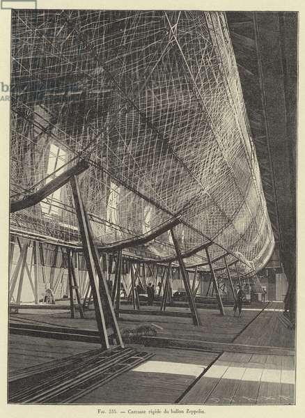 Carcasse rigide du ballon Zeppelin (engraving)