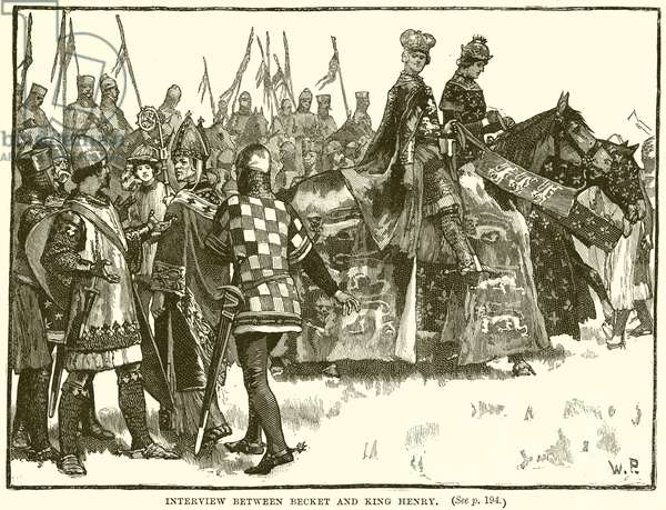 Interview between Becket and King Henry (engraving)