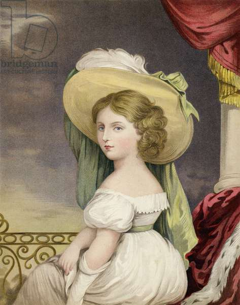 The Princess Victoria at the Age of Twelve Years (colour litho)