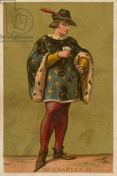 Charles VI (chromolitho)