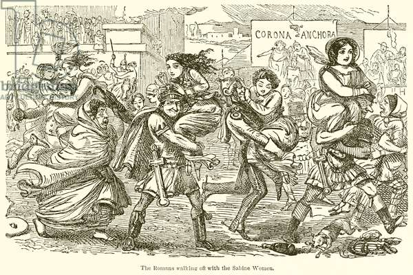 The Romans Walking off with the Sabine Women (engraving)
