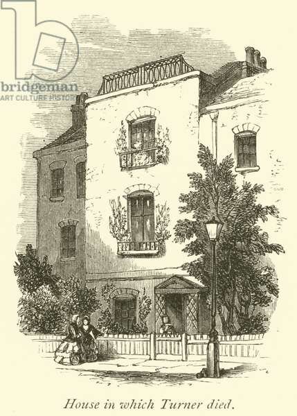 House in which Turner died (engraving)