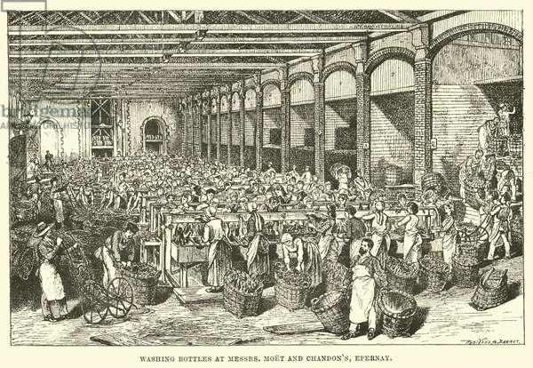 Washing Bottles at Messrs, Moet and Chandon's, Epernay (engraving)