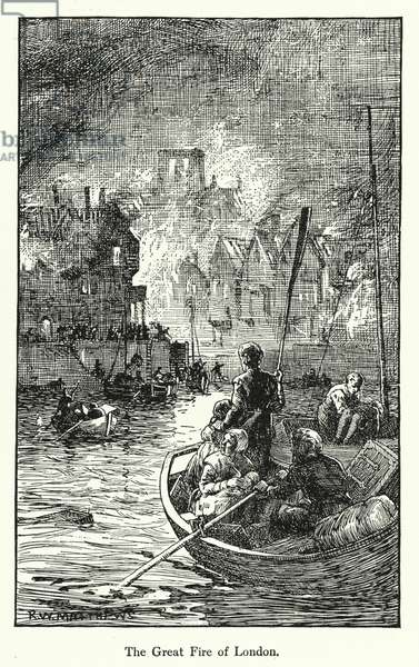 The Great Fire of London (litho)