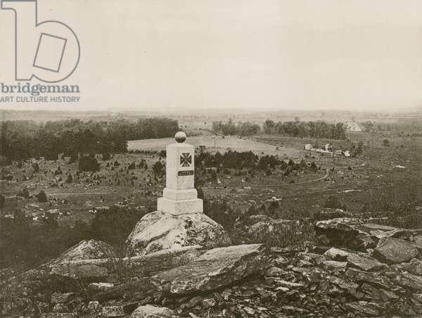 Gettysburg Battle field (photogravure)