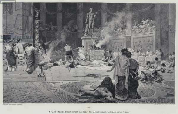 Roman bacchanal (engraving)