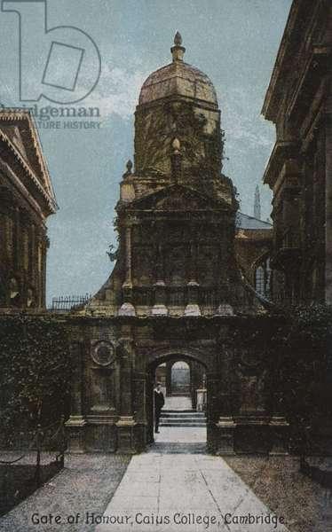 Gate of Honour, Caius College, Cambridge (coloured photo)