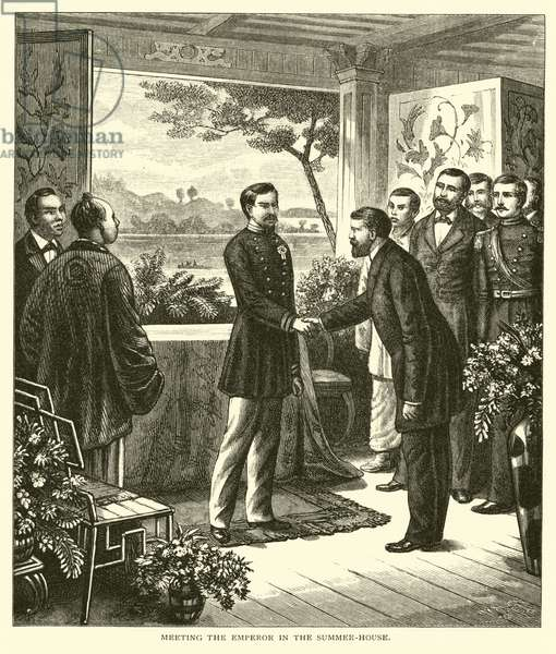 Meeting the Emperor in the Summer-House (engraving)
