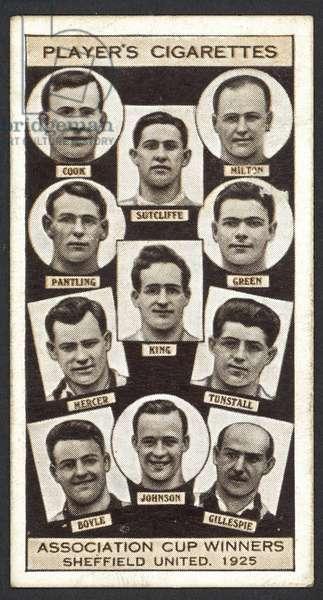 Association Cup Winners, Sheffield United, 1925 (litho)