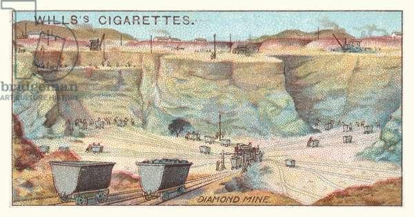 Diamond mine (chromolitho)