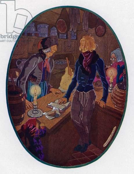 Le Lutin de L'epicier (colour litho)