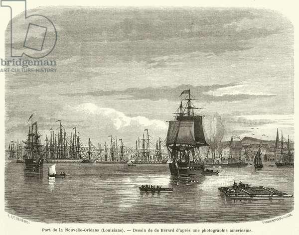 Port de la Nouvelle-Orleans, Louisiane (engraving)
