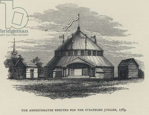 The Amphitheatre erected for the Stratford Jubilee, 1769 (engraving)