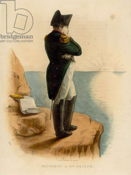 Napoleon Bonaparte (coloured engraving)