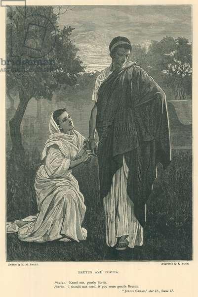 Illustration for Julius Caesar (engraving)