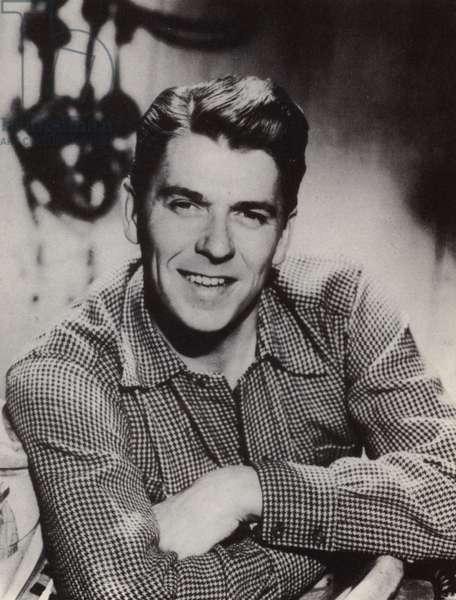Ronald Reagan (b/w photo)
