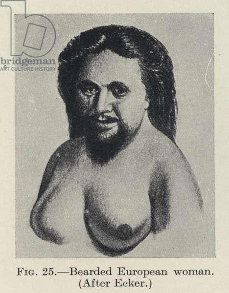 Bearded European woman (b/w photo)