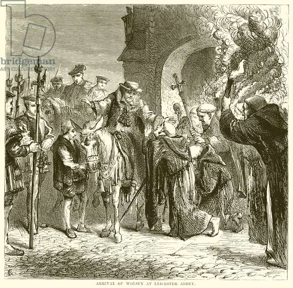 Arrival of Wolsey at Leicester Abbey (engraving)